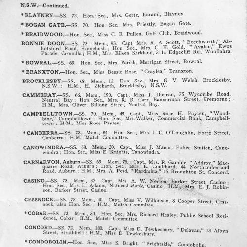 1932 Australian Ladies Golf Union