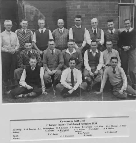 1934 C Grade undefeated premiers