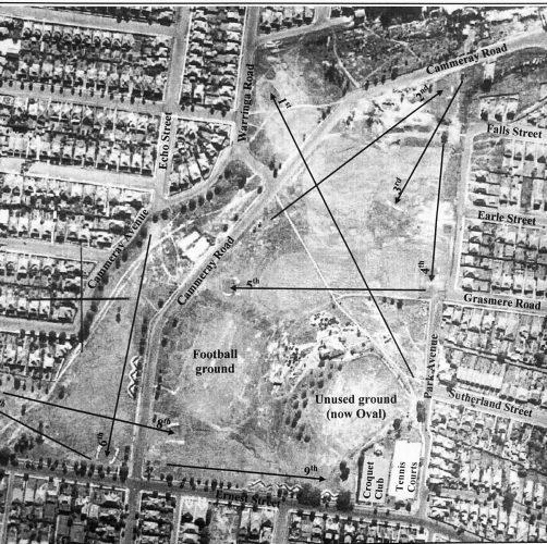 Aerial photo circa 1940