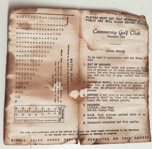 1960's scorecard