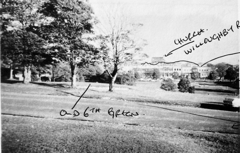 Old 6th green & 8th tee (far right).  Whole area now express way.