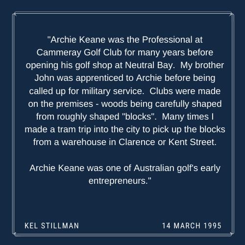 Kel Stillman on Archie Keane