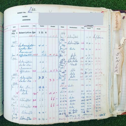 Members Register from 1950